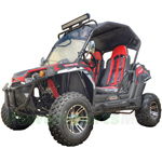 "UTV Challenger 150X 150cc Utility Vehicle w/CVT Automatic w/Reverse! w/Canopy Top and Windshield! Big 22"" Wheels! Free Shipping!"