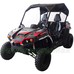 "UTV Challenger 300S 300cc Utility Vehicle with Fully Automatic w/Reverse, Bikini Sunshade Top, Big 22"" Wheels! Free Decal Kit!"