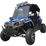 "UTV Challenger 300X IRS 300cc Utility Vehicle with CVT Automatic w/Reverse and Windshield! Big 22"" Wheels! Free Shipping!"