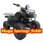 "ATV-T005 110cc ATV with Automatic Transmission! Big 16"" Tires!Refurbished, Fully Assembed !Huge Savings $140!"