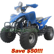 "ATV-T010-R183 250cc Sports ATV with 4-Speed Manual Transmission w/Reverse, Big 21""/20"" Tires! Fully Assembled and Tested!"
