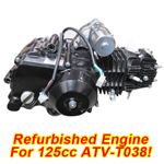 Refurbished Engine for ATV-T038 125cc Automatic Transmission 4-Stroke Air Cooled
