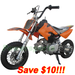 DB-A004C-R259 SSR 70cc Dirt Bike with Semi-Auto Transmission, Front and Rear Disc Brakes!Refurbished, Fully Assembled!