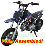 DB-A004C-R485 70cc Dirt Bike with Semi-Auto Transmission, Front and Rear Disc Brakes! Refurbished, Fully Assembled!