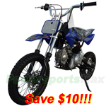DB-A041-R263 SSR 125cc Dirt Bike with Automatic Transmission, Electric Start Only!Refurbished, Fully Assembled and Tested!