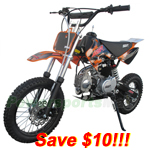 DB-A043-R260 SSR125cc Pit Bike with Manual Transmission, Kick Start! Refurbished, Fully Assembled!