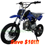 DB-A043-R265  SSR 125cc Pit Bike with Manual Transmission, Kick Start! Refurbished, Fully Assembled and Tested!