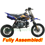"DB-J012-R579 Coolster QG-214-S 125cc Pit Bike with Semi-Auto Transmission, 14""/12"" Wheels! Refrubished, Fully Assembled!"