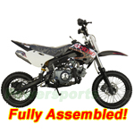 "DB-J014-R500 Coolster 125cc Dirt Bike with 4-Speed Manual Clutch and Kick Start! 14""/12"" Wheels! Refurbished, Fully Assembled!"