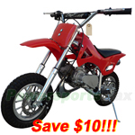 DB-J022-R268 Coolster 49cc 2-Stroke Mini Dirt Bike, Front & Rear Disc Breaks!Refurbished!