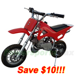 DB-J022-R269 Coolster 49cc 2-Stroke Mini Dirt Bike, Front & Rear Disc Breaks!Refurbished!