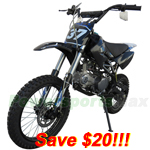 "DB-P18-R273 125cc Dirt Bike with Four Forward Gears,Made by Apollo!Big 17""/14"" Tires!Refurbished, Fully Assembled!"
