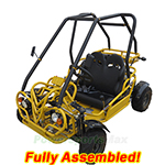 GK-F007-R488  110cc Middle Size Go Kart with Semi-Automatic Transmission w/Reverse, Refurbished, Fully Assembled!