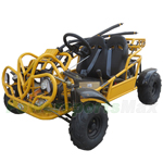 GK-F032-R650 KD-125FM5 125cc Go Kart with 3-Speed Semi-Automatic Transmission w/Reverse, LED Headlights! Refurbished, Not Fully Assembled!