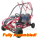 GK-X09-R441 110cc Go Kart with Automatic Transmission w/Reverse, Remote Control! Roof Lights! Refurbished, Fully Assembled!