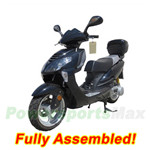 "MC-D72-R397 150cc Moped Scooter with Sports Style Design, 13"" Wheels and Rear Trunk! Refurbished, Fully Assembled!"