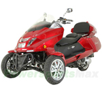 MC-G31-R584 300cc Trike Scooter with Automatic Transmission, Windshield, Rear Trunk! Refurbished, In Crate!