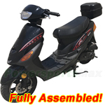 "MC-N013-R587 50cc Moped Scooter with 10"" Wheels, Rear Trunk, Electric/Kick Start! Refurbished, Fully Assembled!"
