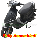 "MC-T21-R589 Taotao New Speed 50cc Moped Scooter with fully automatic Transmission, 10"" Wheels! Refurbished, Fully Assembled!"