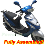 "MC-X09-R588 50cc Moped Scooter with Sports Style, Drum Brakes, 10"" Wheels! Refrubished, Fully Assembled!"