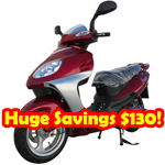 "MC-X35-R270 150cc Moped Scooter with 13"" Wheels!Electric/Kick Start!Refurbished, Fully Assembled and Tested!Free Gifts!"