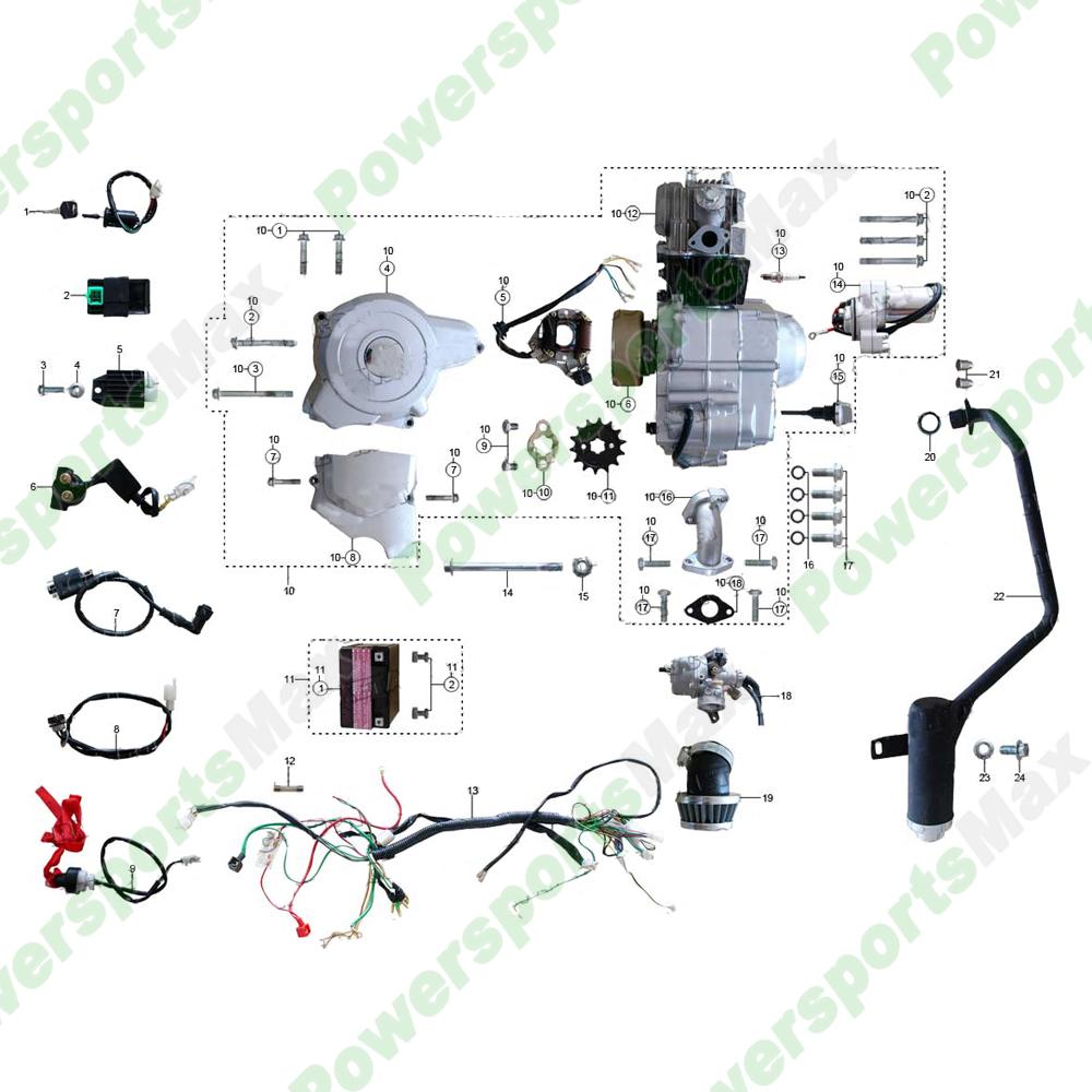 ATV-3050C Engine Assy