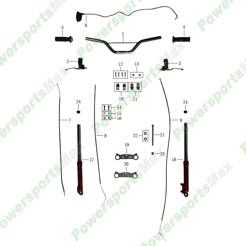 Coolster Qg 50 Engine Diagram Electrical Wiring Diagrams Dirt Bike With Labels Bikes Pit Parts Yerf Dog