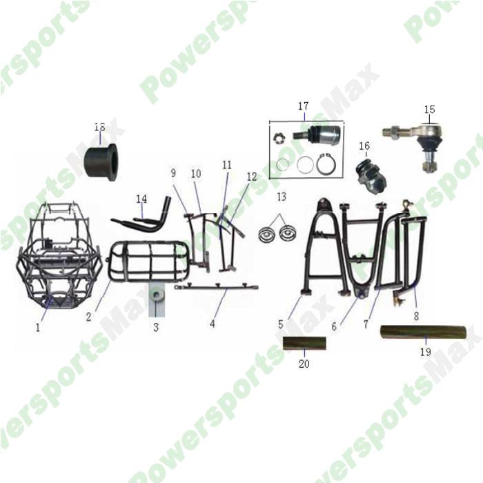 DF200GKA Frame Assembly Parts