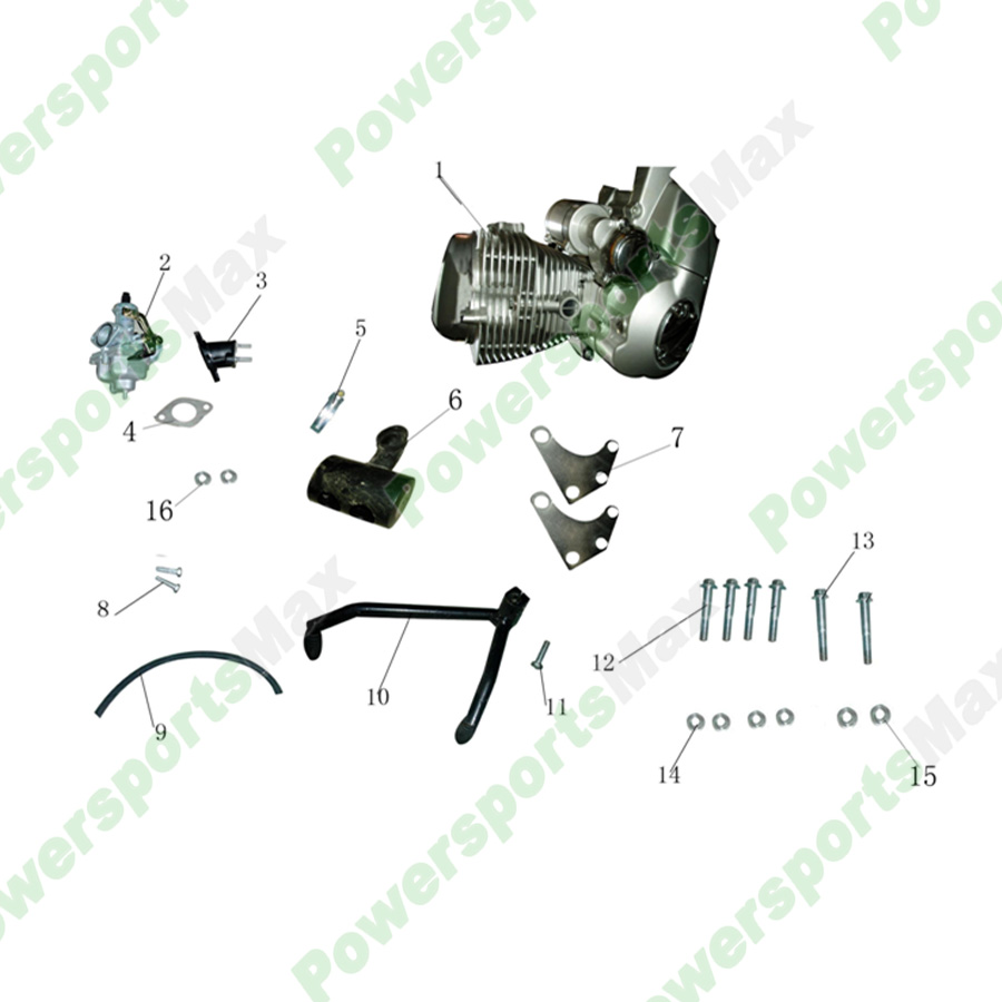ata250d engine assy atvs parts