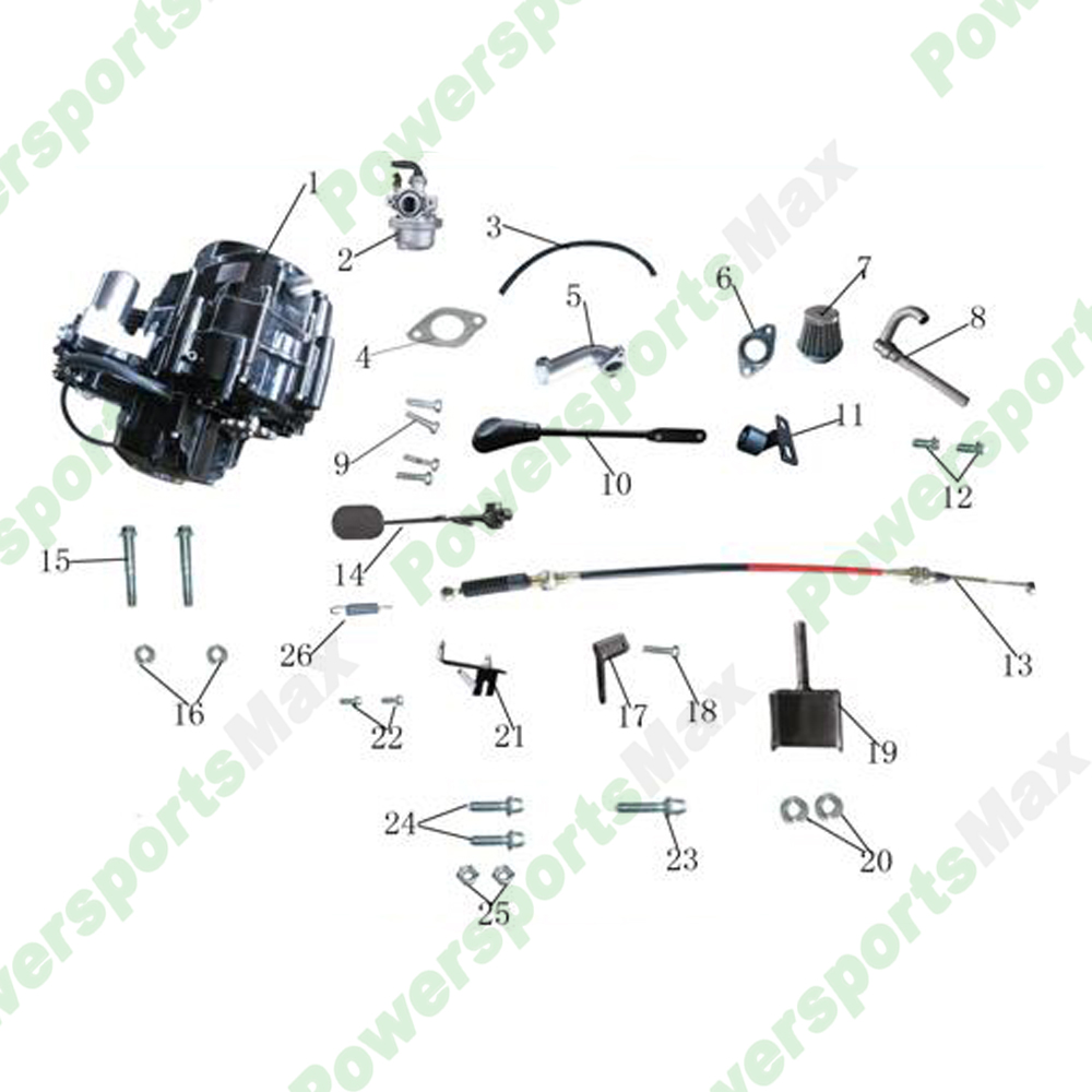 atk 125a engine assembly go karts parts