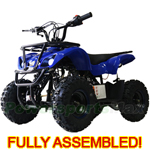 "ATV-F023 60cc Kids ATV with Automatic Transmission, Electric Start! Hydraulic Brakes, LED Headlights! 6"" Tires! Fully Assembled!"
