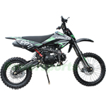 "Apollo DB-007 125cc Dirt Bike with 4 Gears Manual Transmission, Kick Start, Big 17""/14"" Tires!"