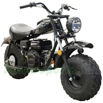 "Massimo Warrior 200cc Mini Bike with Automatic Transmission and Recoil Pull Start! 19"" Wide Fat Balanced Tires!"