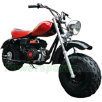 "X-PRO 200cc Super Size Mini Trail Bike with CVT Automatic Transmission and Pulll Start! 19"" Wide Fat Balanced Tires! Assembled In Crate!"