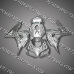 Injection Molded Fit CBR1000RR 06 07 White Flames Silver Fairing ZN061, Free Shipping!