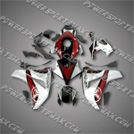 Fit CBR1000RR 08-11 Red Silver ABS Fairing ZN903, Free Shipping!