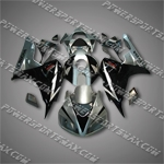 Injection Molded Fit CBR1000RR 06 07 Grey Black Fairing ZN759, Free Shipping!