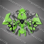 Injection Molded Fit CBR1000RR 04 05 Flames Green Fairing ZN722, Free Shipping!