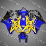Injection Molded Fit CBR1000RR 04 05 Yellow Blue Fairing 14N33, Free Shipping!
