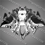 Injection Molded Fit CBR600RR 09-12 Black Flames Fairing 69N39, Free Shipping!