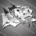 Injection Molded Fit CBR600RR 05 06 Silver Black Fairing 65N30, Free Shipping!