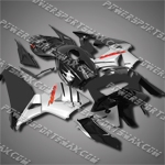 Injection Molded Fit CBR600RR 05 06 Silver Black Fairing 65N40, Free Shipping!