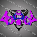 For CBR929RR 00 01 Purple Blue ABS Fairing ZH623, Free Shipping!