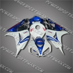 Injection Molded Fit CBR1000RR 06 07 Blue White Fairing ZN675, Free Shipping!