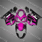 For CBR600F4i 04-07 Rose Black ABS Fairing 64N26, Free Shipping!