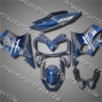For CBR600F4i 04-07 Grey Blue ABS Fairing ZN1158, Free Shipping!