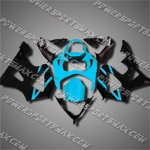 For CBR929RR 00 01 Cyan Black ABS Fairing ZH628, Free Shipping!