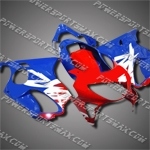 For CBR600F4 99 00 Red Blue Fairing, Free Shipping!