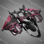For CBR600F4 99 00 Hot Pink Flames Fairing 60N16, Free Shipping!