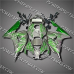 Injection Molded Fit CBR1000RR 06 07 Green Flames Fairing ZN552, Free Shipping!